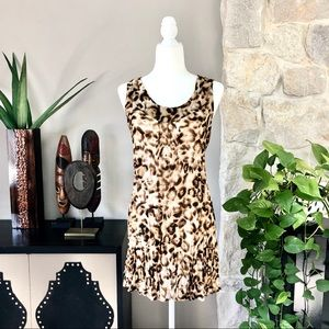 Allison Taylor Leopard Swim Cover Up Dress L